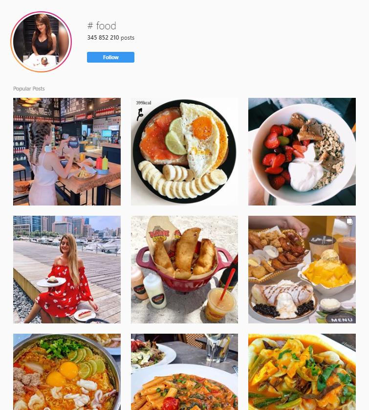 food hashtag