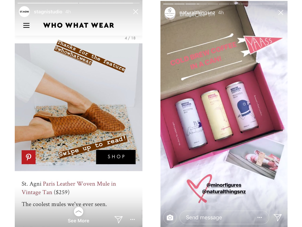 example of social proof on instagram