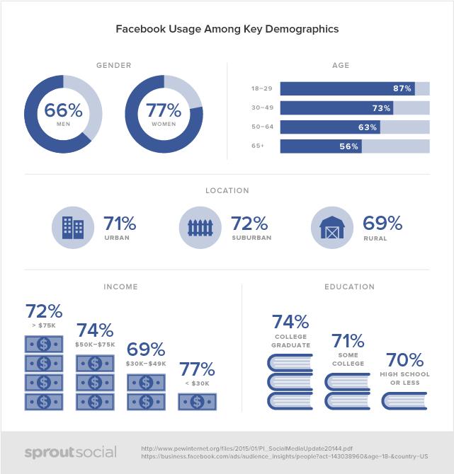 Facebook usage demographics