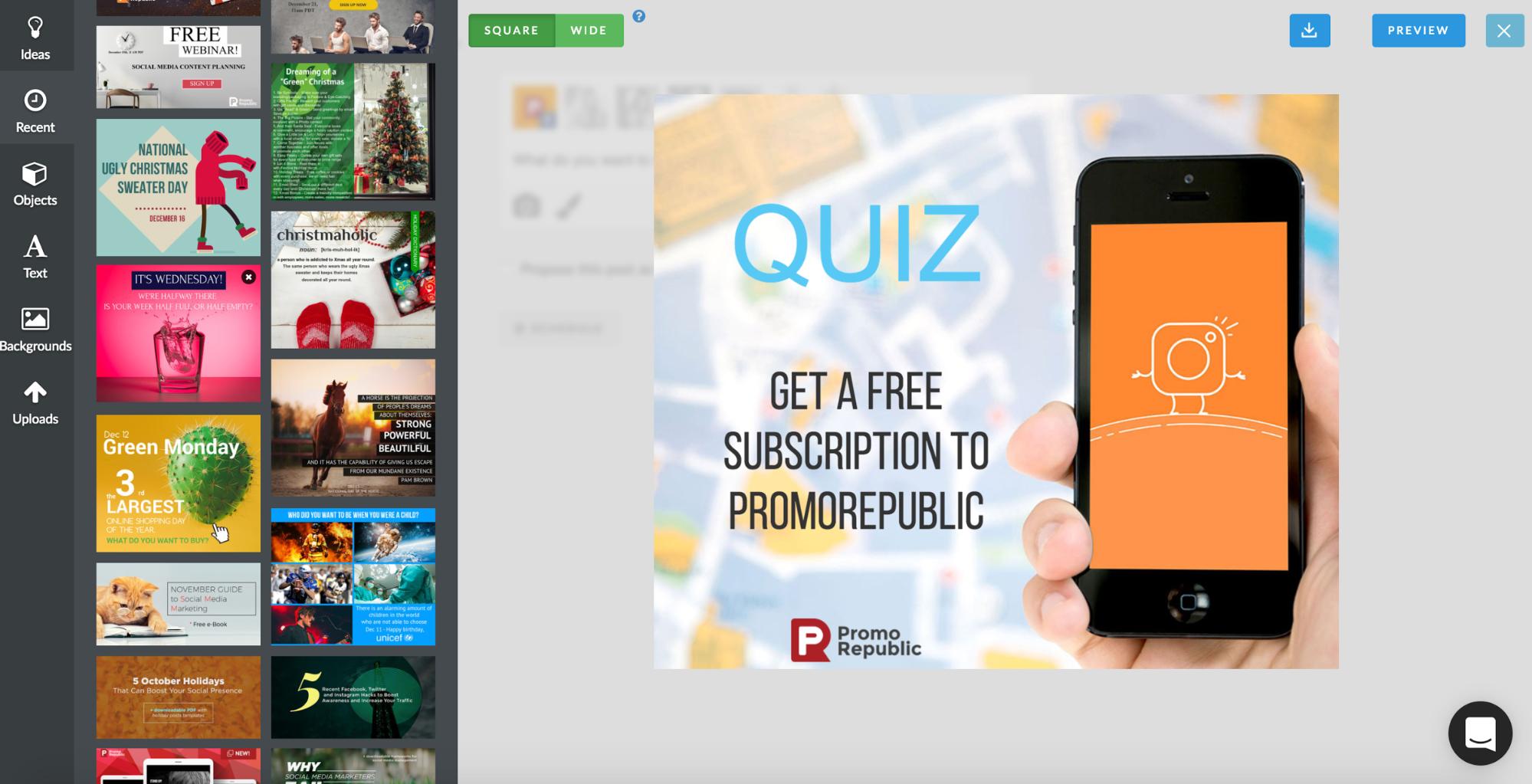 create visual for facebook quiz