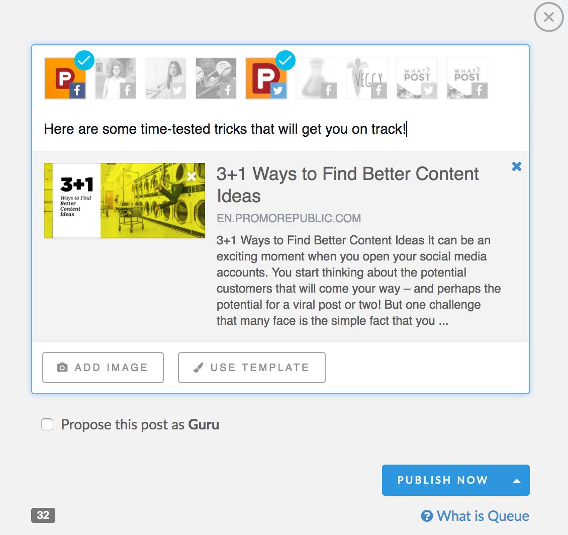 PromoRepublic post editor screenshot
