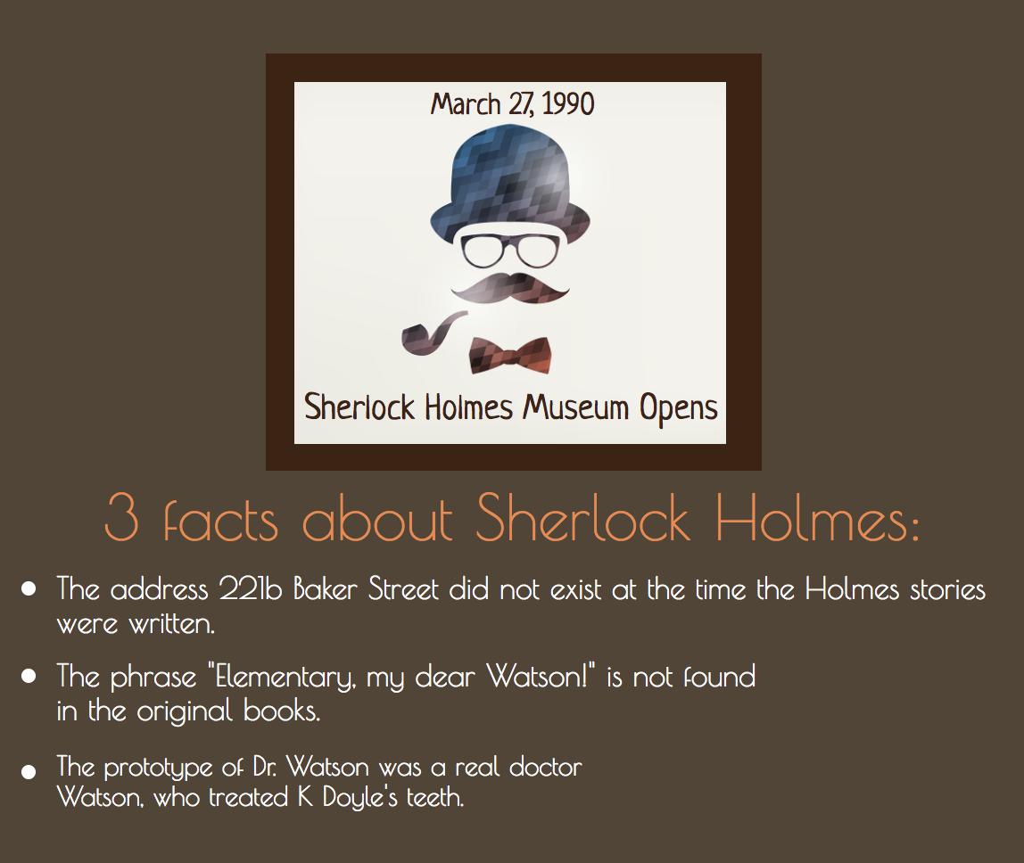Sherlock Holmes facts img