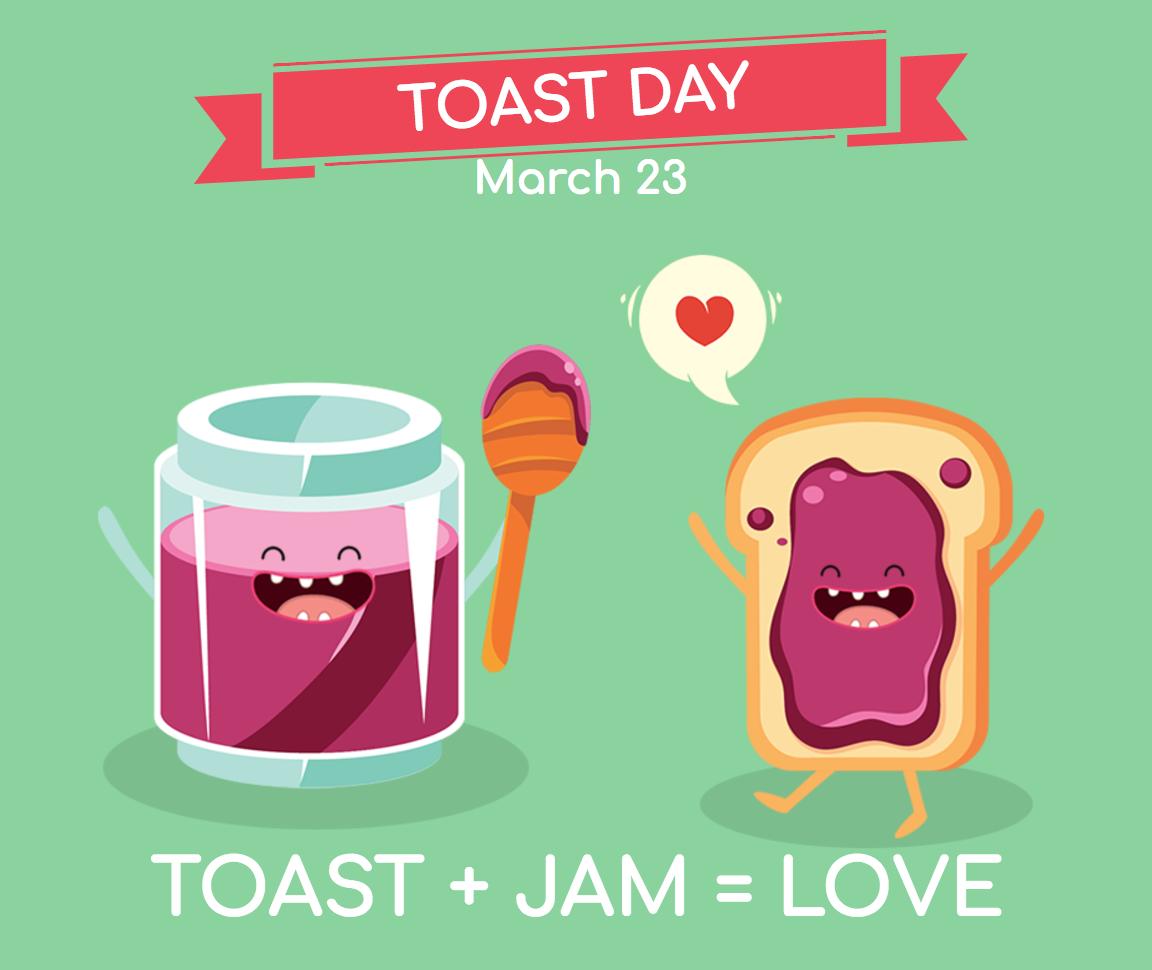 Toast day image