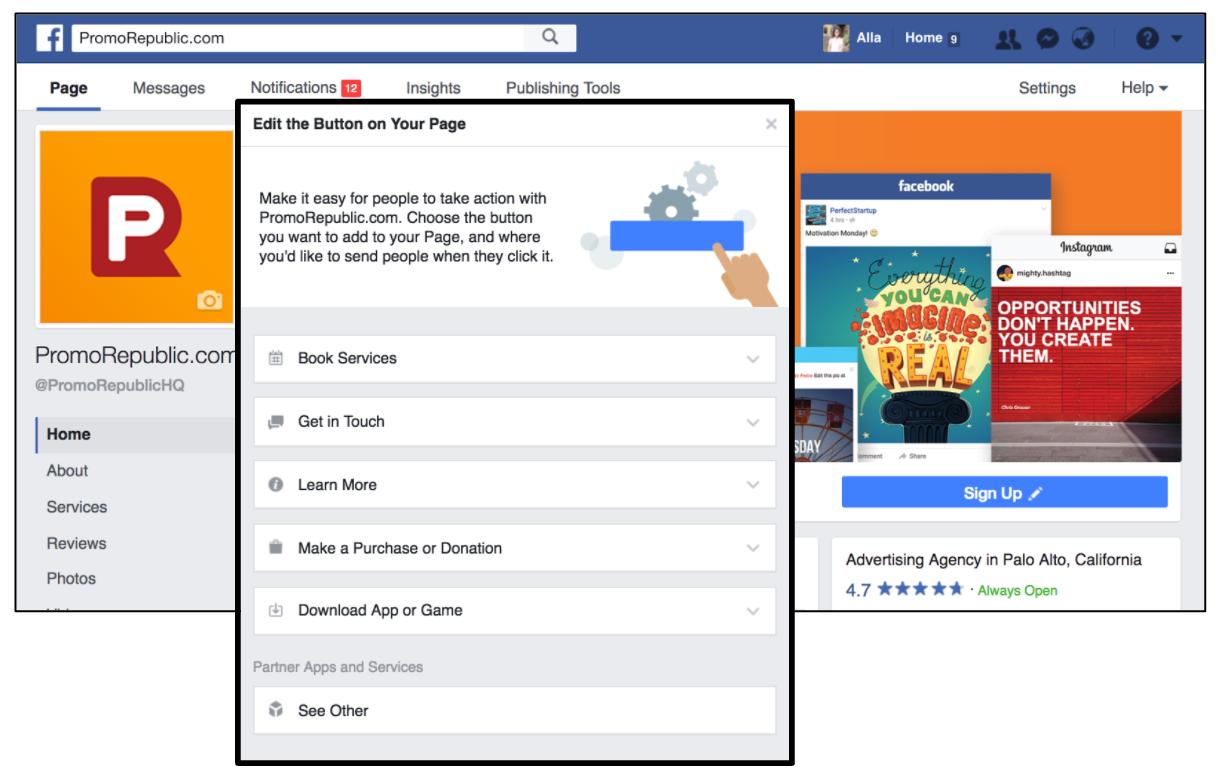Facebook CTA Button img