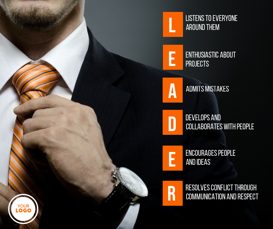 leader infographic