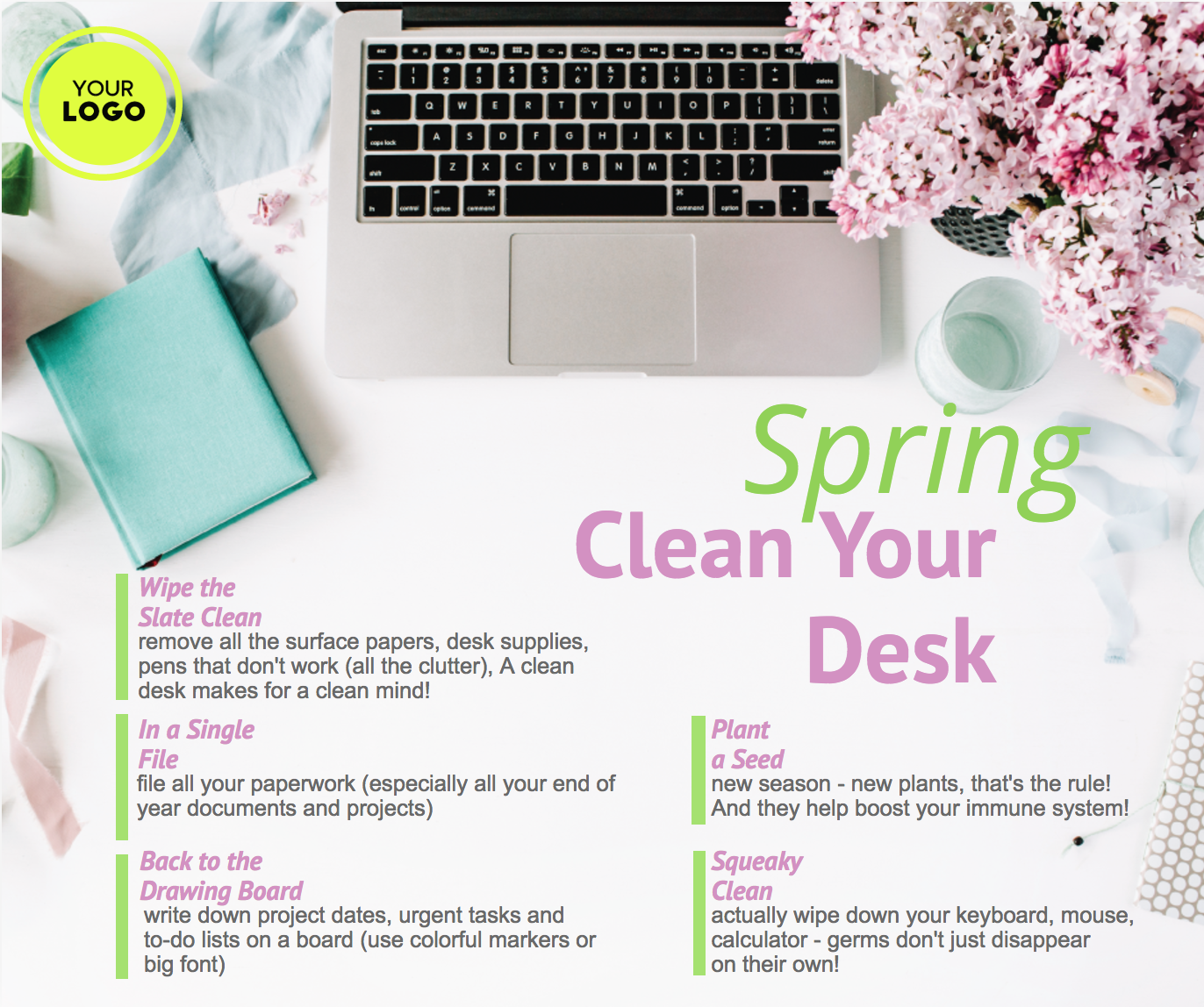 spring clean your desk img