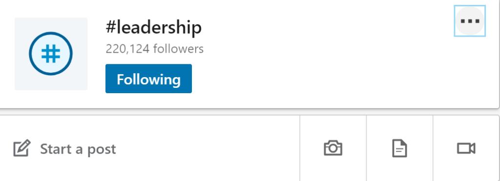 hashtags on LinkedIn