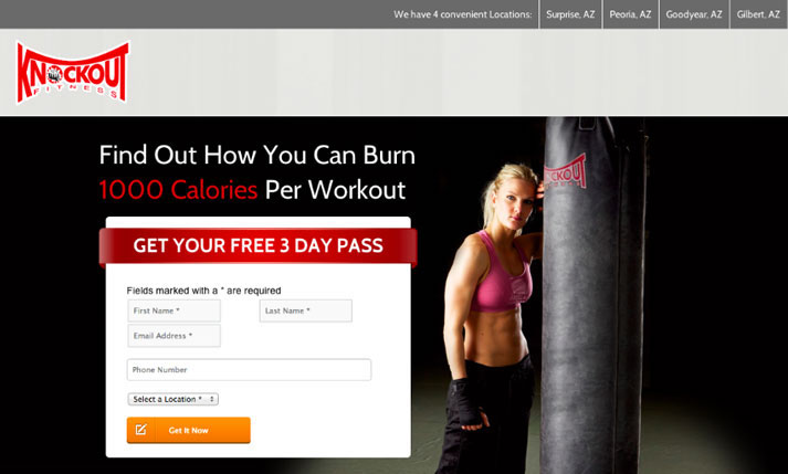 create landing page and offer a free trial