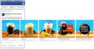 Facebook carousel advertisements