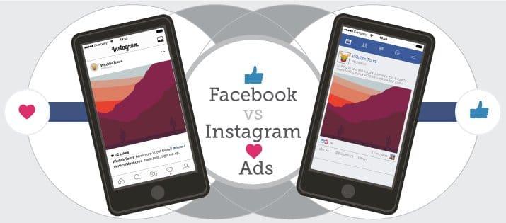 Facebook ads or Instagram ads