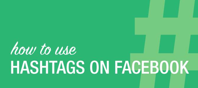 How hashtags on Facebook