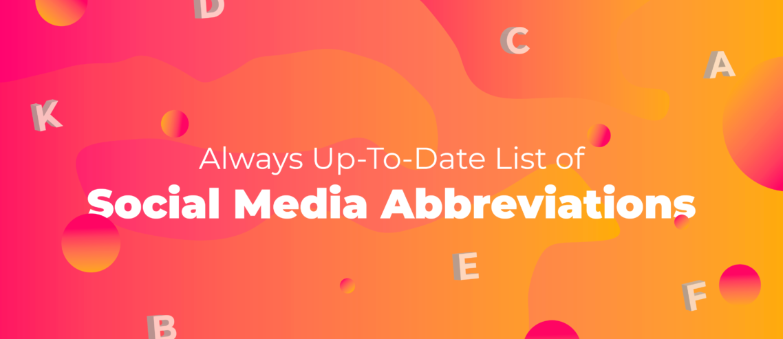 top social media acronyms
