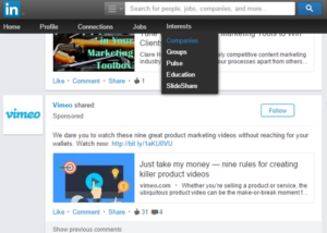 LinkedIn company page.