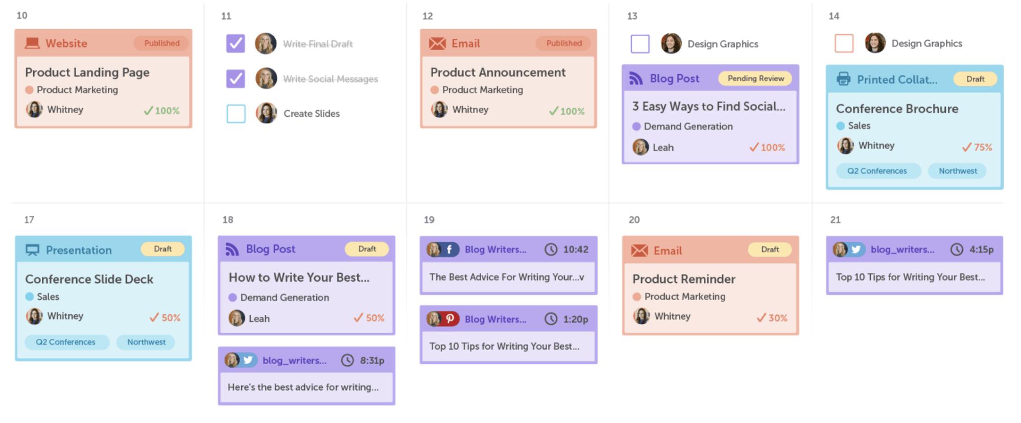 CoSchedule. Social Media Management Software