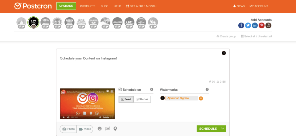 Postcron. One of The Best Social Media Management Tools