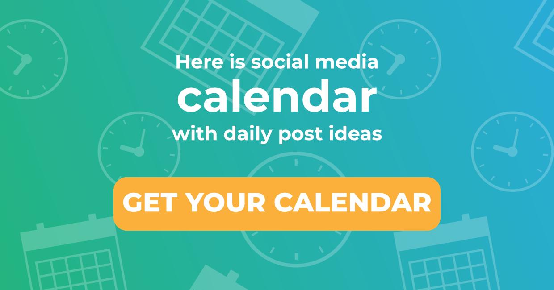 Get you social media calendar