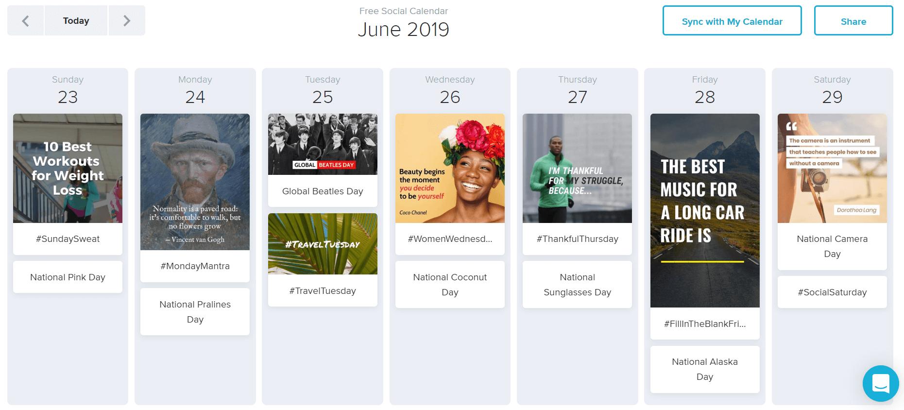 Wave Social Calendar