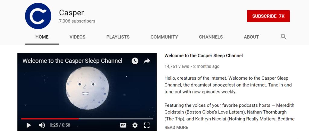 Casper Sleep Channel