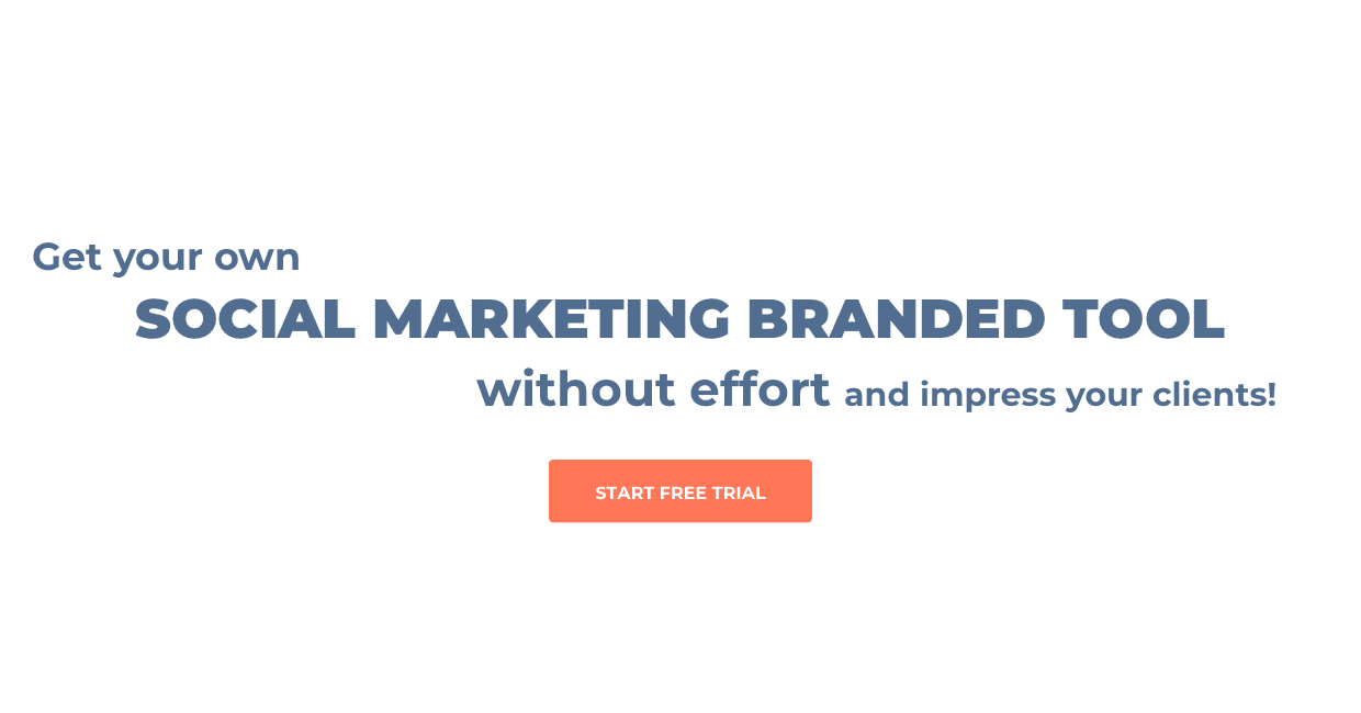 Get your own social marketing branded tool without effort and impress your clients!