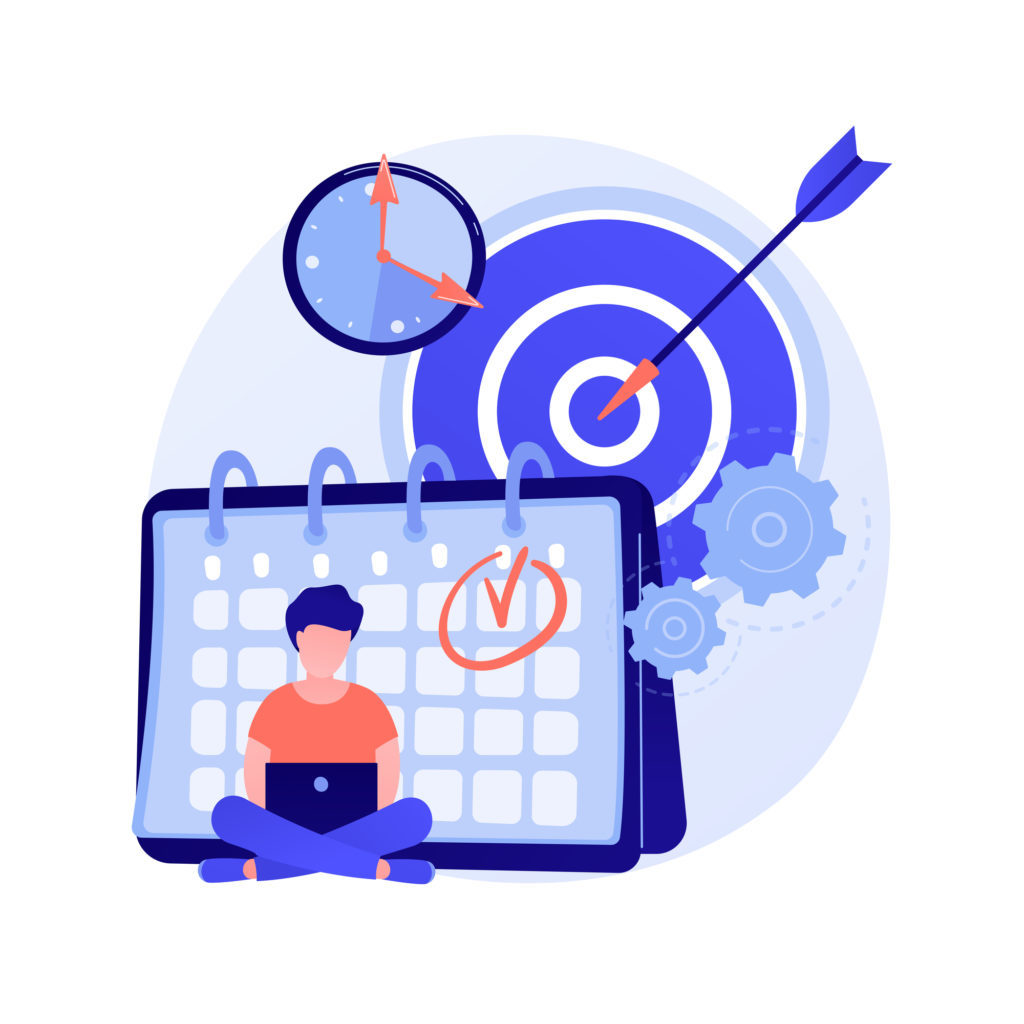Discipline abstract concept vector illustration. Personal quality, disciplined employee, diligence, self discipline training, behavior regulation, obey the rules, control habit abstract metaphor.
