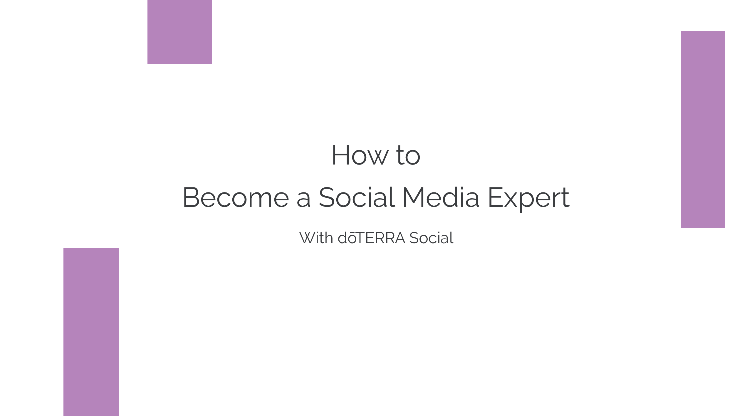 How to Become a Social Media Expert With dōTERRA Social